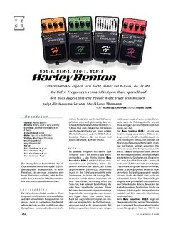 Gitarre & Bass Harley Benton BOD-1, BLM-1, BEQ-1, BCH-1, Bass-Effekte