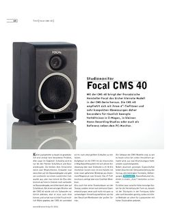 Sound & Recording Focal CMS 40