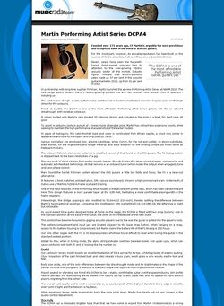 MusicRadar.com Martin Performing Artist Series DCPA4