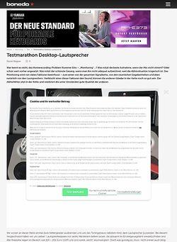 Bonedo.de Testmarathon Desktop-Lautsprecher