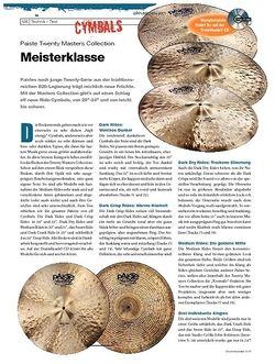 DrumHeads Instrumente & Technik - Test: Paiste Twenty Masters Collection