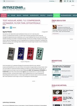 Amazona.de Test: Aguilar, Agro, TLC Compressor, Octamizer, Filter Twin, Effektpedale
