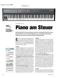 Tastenwelt Test: Kurzweil SP4-8 - Piano am Steuer