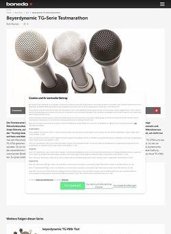 Bonedo.de Beyerdynamic TG-Serie