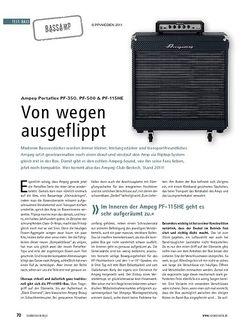 Soundcheck Test Bassamp: Ampeg Portaflex PF-350, PF-500 & PF-115HE