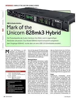 KEYS Mark of the Unicorn 828mk3 Hybrid