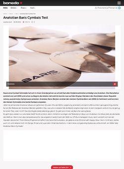 Bonedo.de Anatolian Baris Cymbals