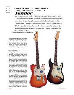 Gitarre & Bass Fender American Deluxe Stratocaster & American Deluxe Telecaster, E-Gitarren