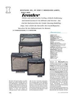Gitarre & Bass Fender Mustang III, IV und V, Modeling-Amps