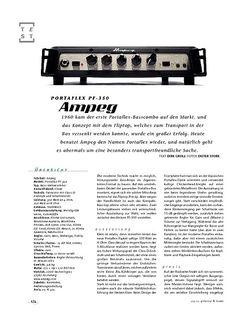 Gitarre & Bass Ampeg Portflex PF-350, Bass-Top