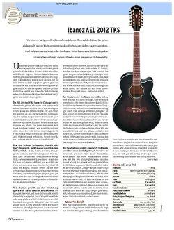 Guitar Ibanez AEl 2012 TKS