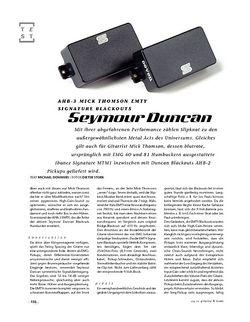 Gitarre & Bass Seymour Duncan AHB-3 Mick Thomson EMTY Signature Blackouts