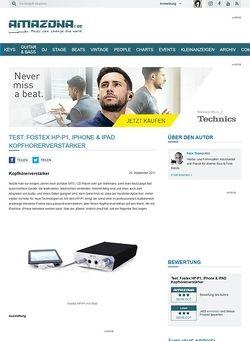 Amazona.de Test: Fostex HP-P1, iPhone & iPAD Kopfhörerverstärker