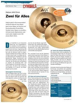 DrumHeads Instrumente & Technik - Test: Sabian AAX Omni