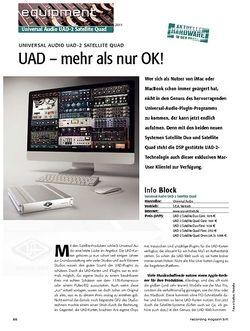 Recording Magazin UAD - mehr als nur OK! - Universal Audio UAD-2 Satellite Quad