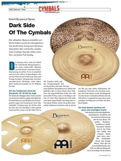 DrumHeads Instrumente & Technik - Test: Meinl Byzance News