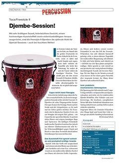 DrumHeads Instrumente & Technik - Test: Toca Freestyle II Djemben