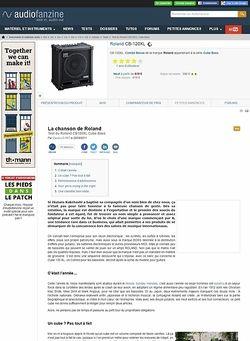 Audiofanzine.com Roland Cube-120XL Bass