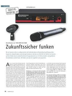 Soundcheck Test Drahtlos-Mikrofon-Set: Sennheiser ew 100-935 G3-1G8