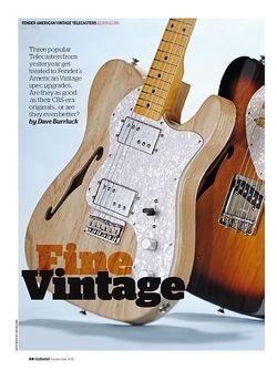 Guitarist Fender American Vintage '72 Telecaster Thinline