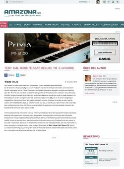 Amazona.de Test: G&L Tribute ASAT Deluxe TR, E-Gitarre