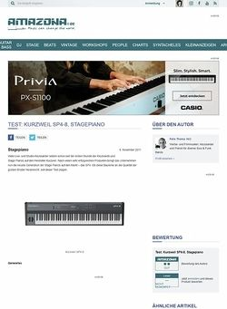 Amazona.de Test: Kurzweil SP4-8, Stagepiano