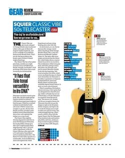 Total Guitar SQUIER CLASSIC VIBE 50s TELECASTER