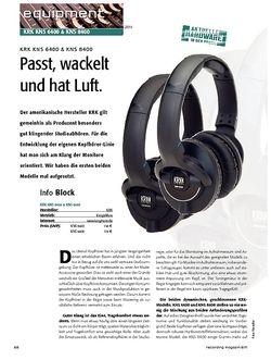 Recording Magazin KRK KNS 6400 & KNS 8400 - Passt, wackelt und hat Luft