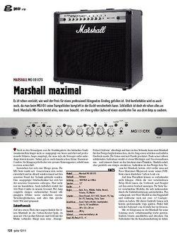 guitar gear Amp - Marshall MG101CFX