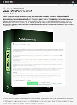 Bonedo.de Waves Native Power Pack
