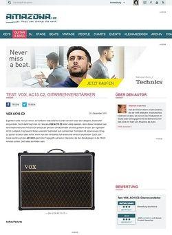 Amazona.de Test: VOX, AC15 C2, Gitarrenverstärker