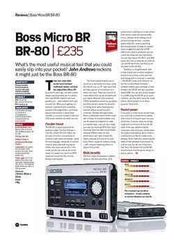 Future Music Boss Micro BR BR-80