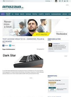 Amazona.de Test: Access Virus TI2 Up-Date OS 4.5 & Virus Dark Star, Synthesizer