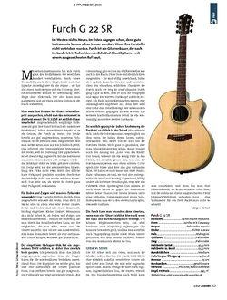 Guitar Test: Furch G 22 SR Akustikgitarre