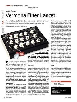 KEYS Vermona Filter Lancet