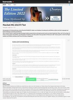 Bonedo.de Marshall MG 101CFX