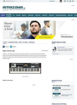 Amazona.de Test: Hammond, SK1 & SK2, Orgel