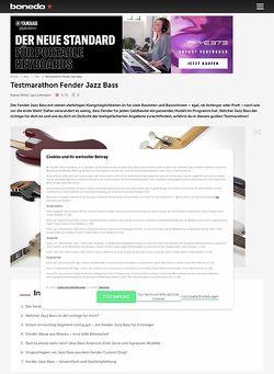 Bonedo.de Testmarathon Fender Jazzbass