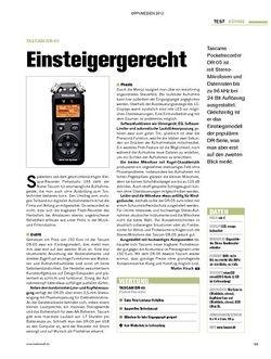 Tastenwelt Test: Tascam DR-05 - Einsteigergerecht