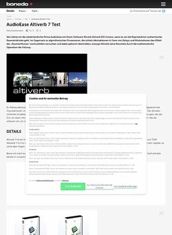Bonedo.de AudioEase Altiverb 7