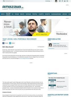 Amazona.de Test: Zoom, H2n, Portable Recorder