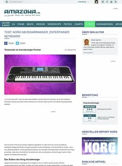 Amazona.de Test: Korg, micro Arranger, Entertainer Keyboard