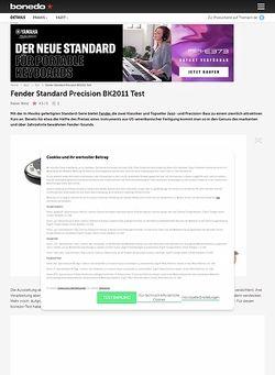 Bonedo.de Fender Standard Precision BK2011