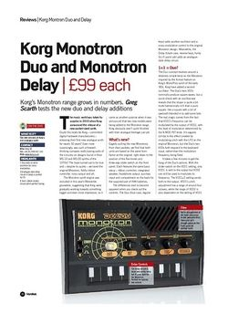 Future Music Korg Monotron Delay