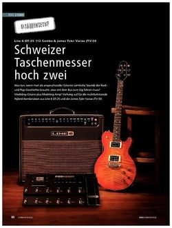 Soundcheck Test Gitarrensetup: Line 6 DT-25 112 Combo & James Tyler Variax