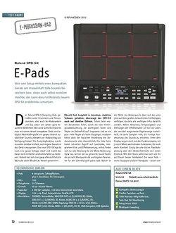 Soundcheck Test E-Percussion-Pap: Roland SPD-SX