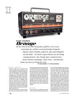 Gitarre & Bass Orange Dark Terror, Tube-Head
