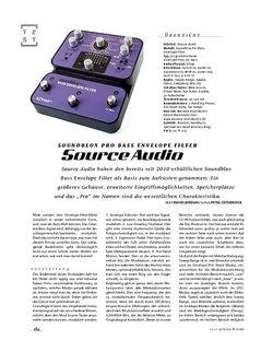 Gitarre & Bass Source Audio Soundblox Pro Bass Envelope Filter