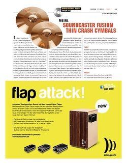 Sticks Meinl Soundcaster Fusion Thin Crash Cymbals