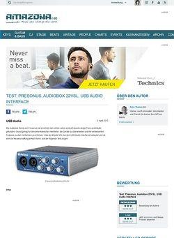 Amazona.de Test: Presonus, Audiobox 22VSL, USB Audio Interface